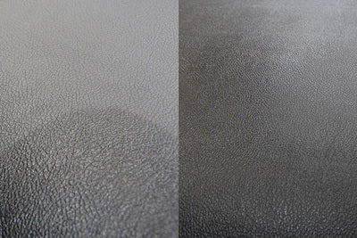 Car vinyl plastic before and after