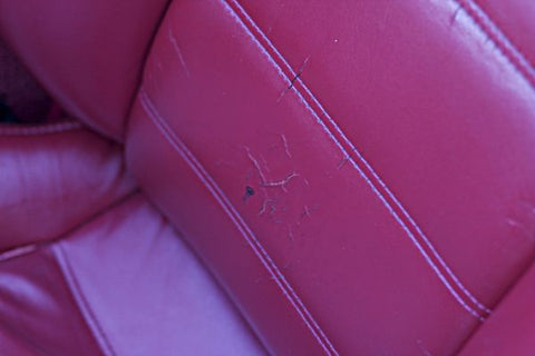 Cracked leather car seat