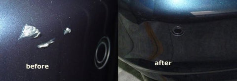 rear bumper repair before and after