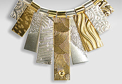 9-tab silver and gold vermeil necklace by Q Evon