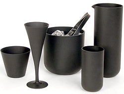 Sugahara black glass Japanese barware