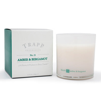 Trapp Candles No.21 Amber & Bergamont