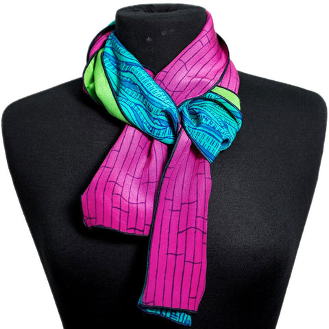 3-D tubular silk scarves