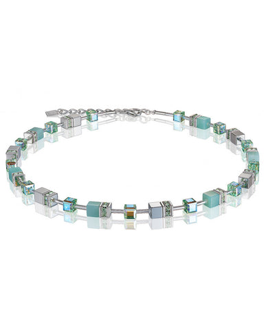 Coeur de Lion amazonite cubes and crystals necklace
