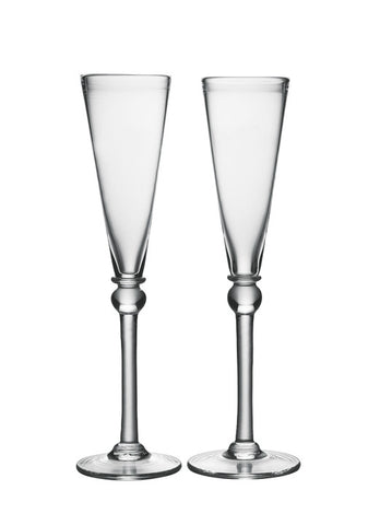 Simon Pearce Hartland champagne flutes, set of 2 in gift box