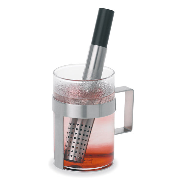 Perforated stainless steel tea infuser stick