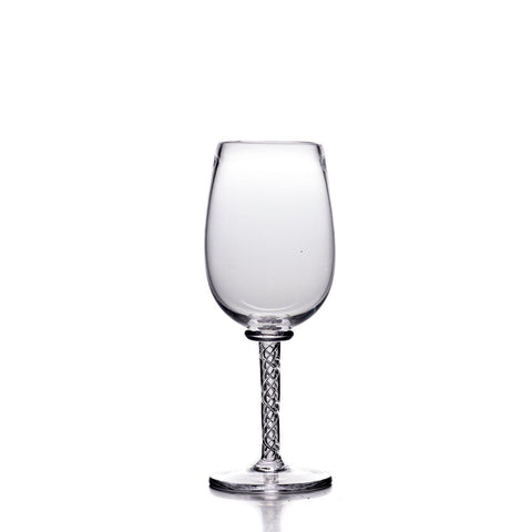 Simon Pearce Stratton white wine glass