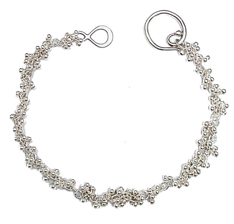 Signature granulation bracelet