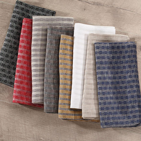 Bodrum Basketweave linen-cotton blend napkins, set of 4