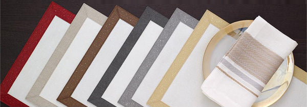 Bodrum Bordino rectangle vinyl easy-care placemats, set of 6