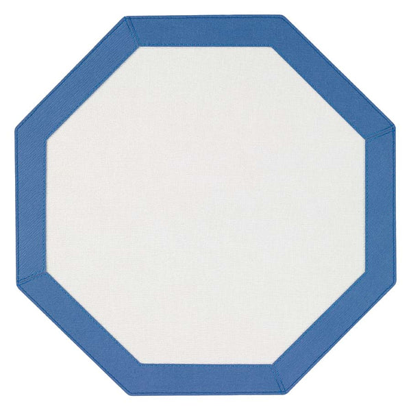 Bodrum Bordino octagon vinyl easy-care placemats, set of 4