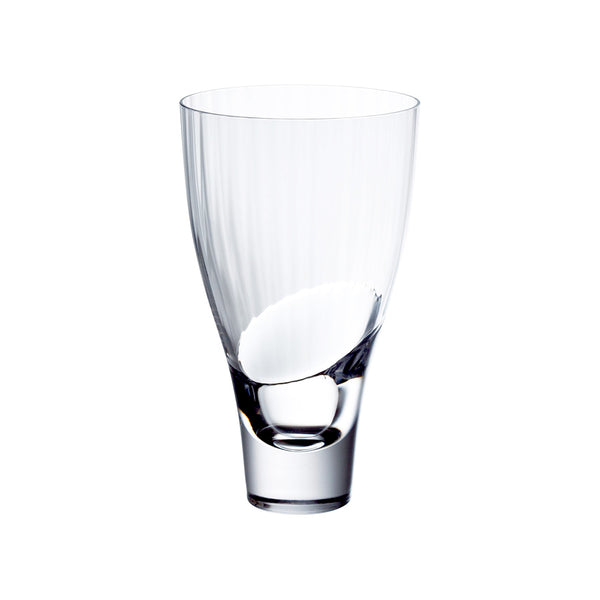 Sugahara ribbed Flare glass, clear
