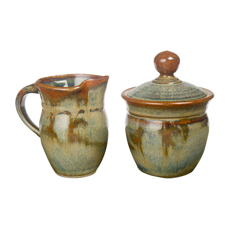 Sunset Canyon creamer & sugar set
