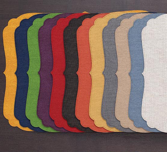 Bodrum Curly vinyl easy-care placemats, set of 4
