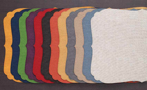 Bodrum Curly vinyl easy-care placemats, set of 6