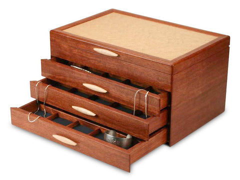 Heartwood Grand Cascade II large handcrafted jewelry box