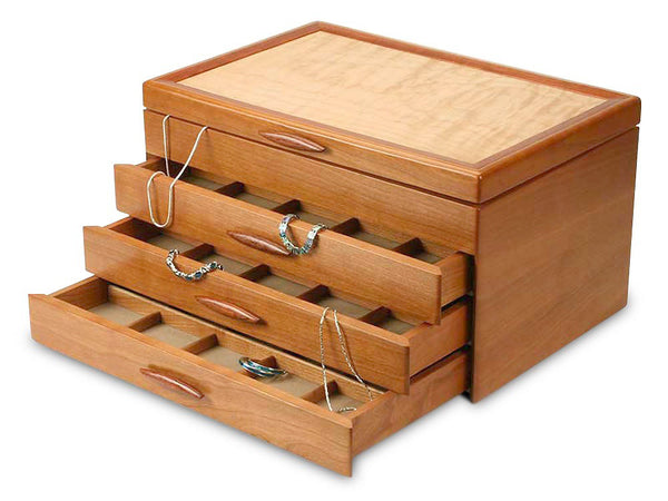 Heartwood Grand Cascade I large handcrafted jewelry box
