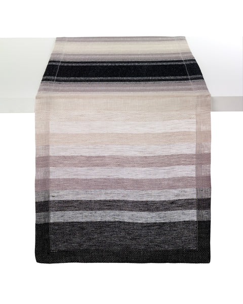 Bodrum Gradient Stripe linen napkins and runners