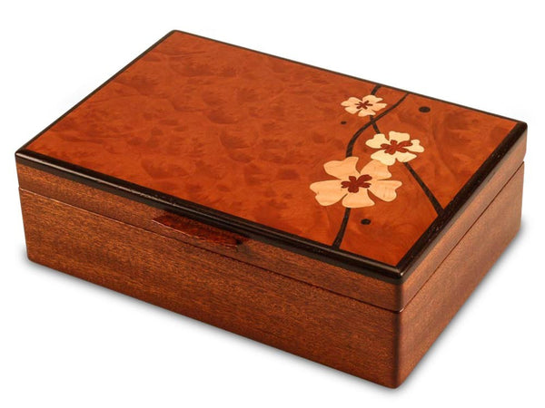 Heartwood Moon Flowers handcrafted jewelry box