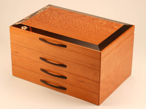 Heartwood Grand Cherry Blossom large handcrafted jewelry box