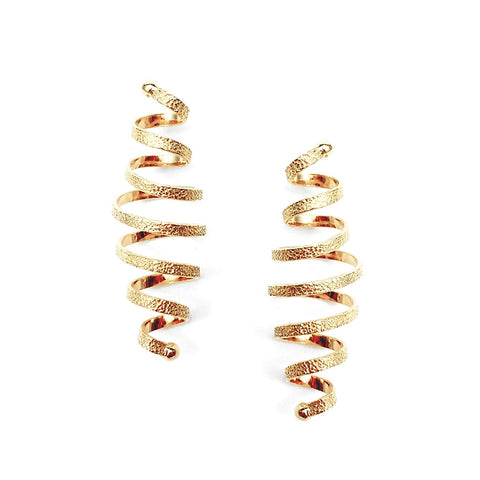Kathleen Maley gold vermeil spiral coil post earrings