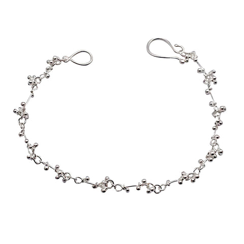 Magally Deveau silver crochet bracelet