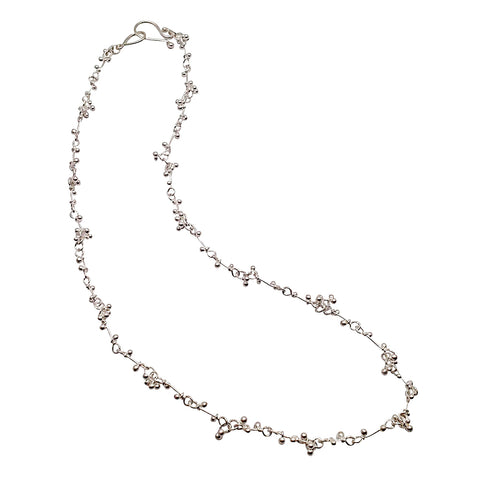 Magally Deveau silver crochet necklace