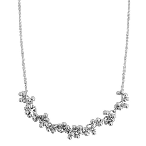Magally Deveau silver segment granulation necklace