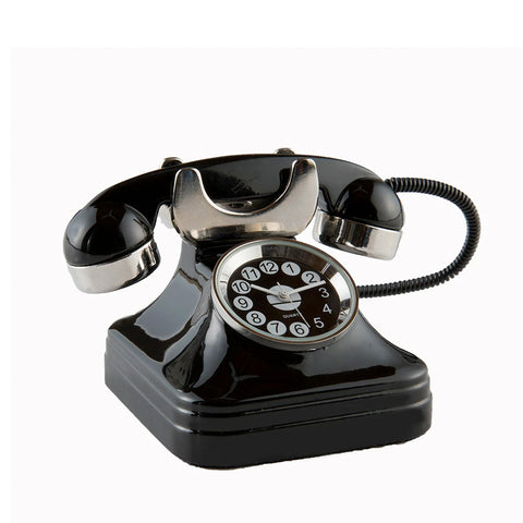 Miniature retro rotary telephone clock
