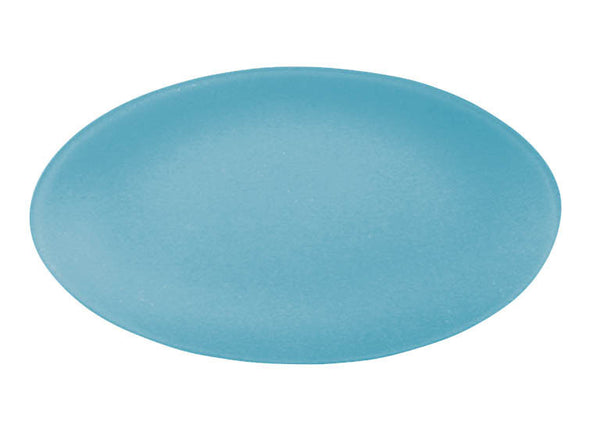 Seaglass oval recycled glass platter