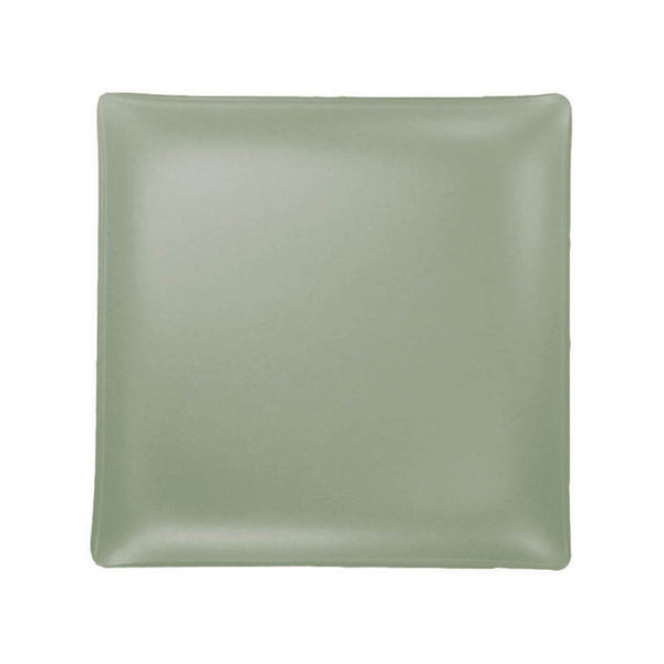 Sea glass square glass plate