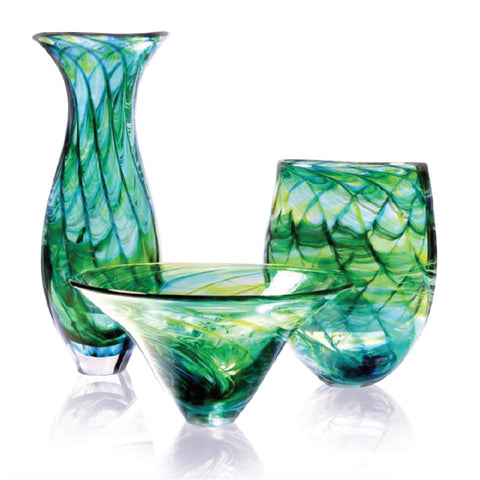 Hand-blown Ocean collection by Richard Glass