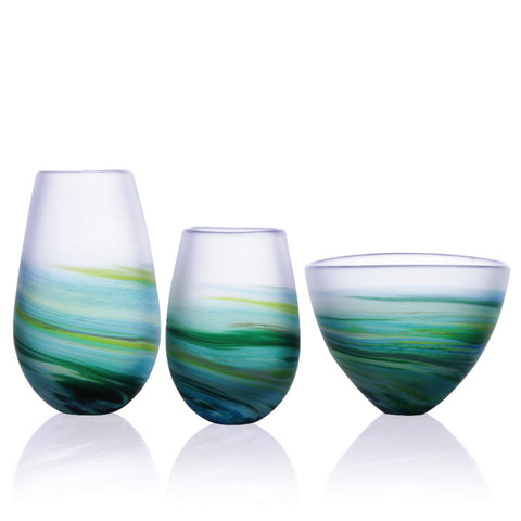 Hand-blown Rockpool collection by Richard Glass