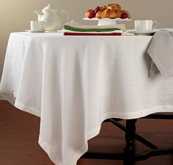 Bodrum Riviera stone-washed linen tablecloths