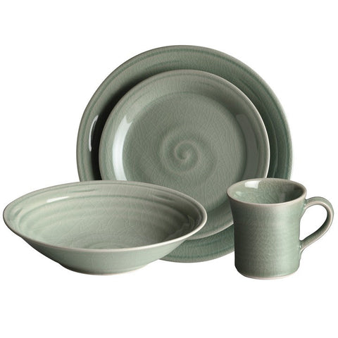 Simon Pearce Belmont 4-piece setting with pasta bowl