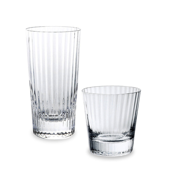 Sugahara Kirameki Ribbed textured old fashioned glass