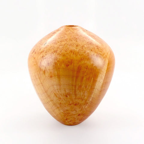 One-of-a-kind handcrafted wood vessel in maple burl