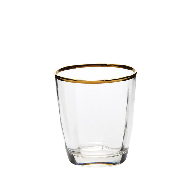 Vietri Optical Gold double old fashioned, set of 4
