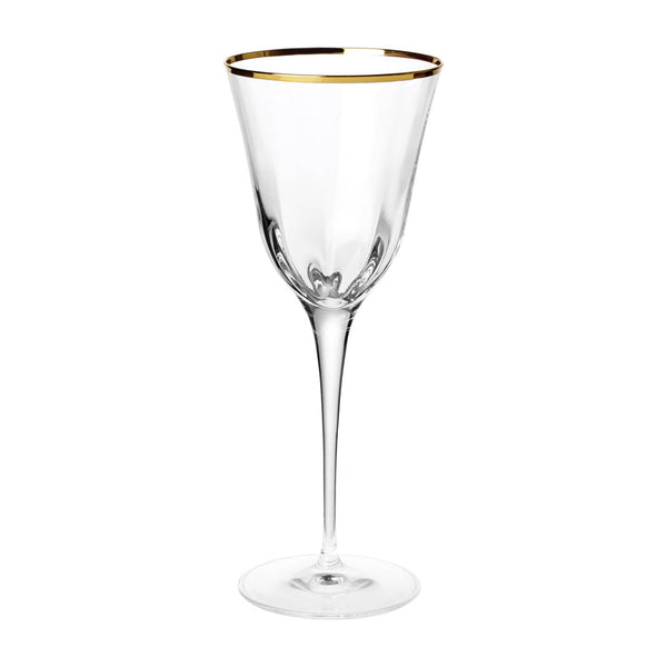 Vietri Optical Gold water glass, set of 4
