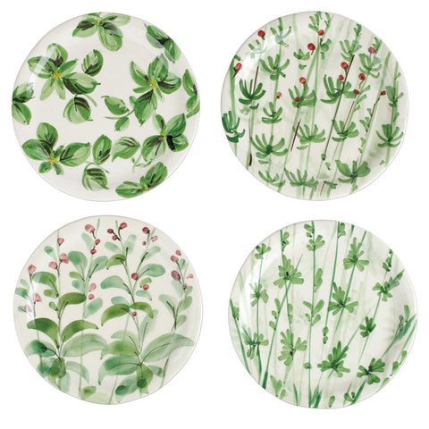 Vietri Erbe salad plates, set of 4