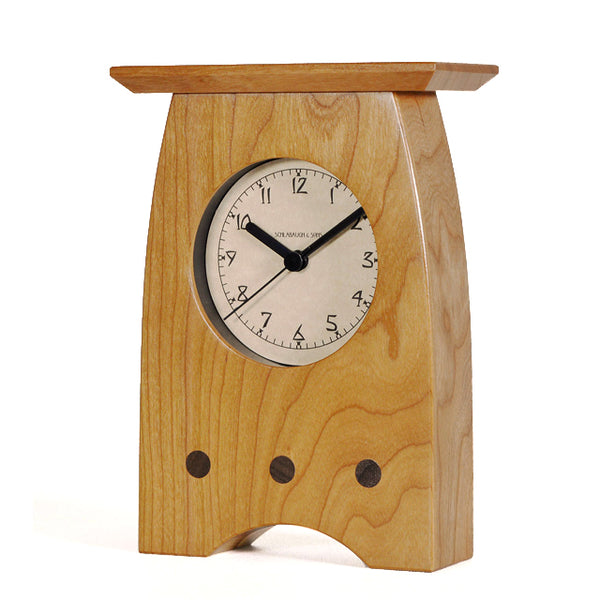 Arts and Crafts curved clock