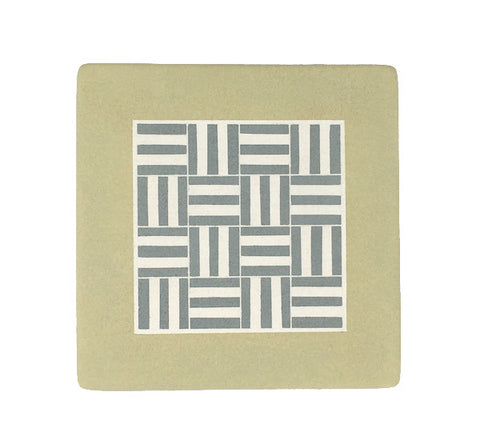 Hand-painted ceramic weave trivet