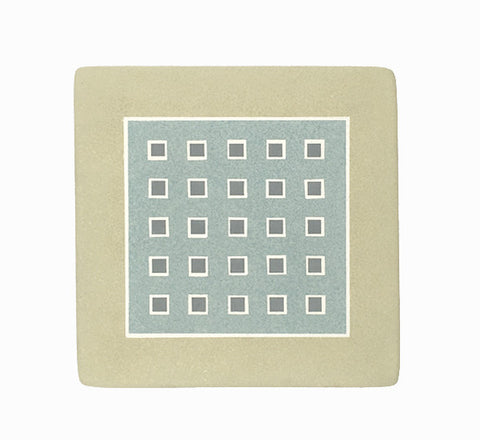 Hand-painted ceramic squares trivet