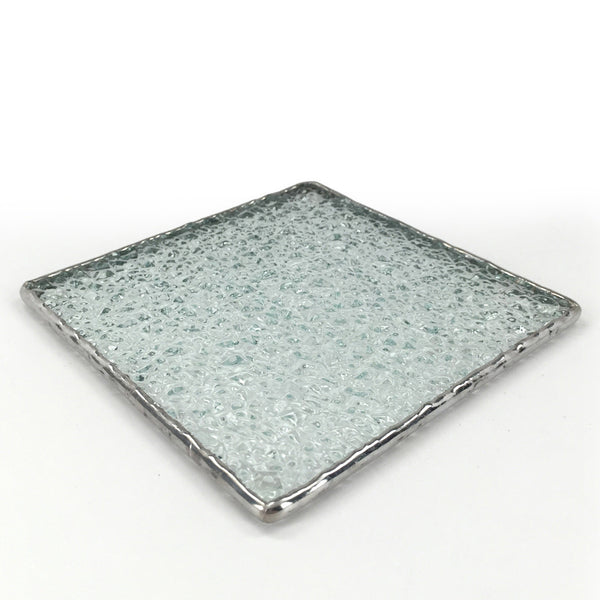 Textured glass coasters, set of 4