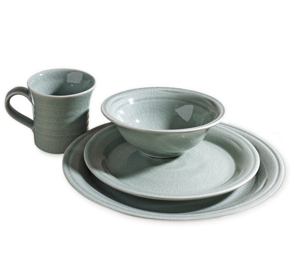 Simon Pearce Belmont 4-piece setting with cereal bowl