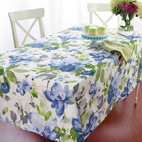 Bodrum Bouquet cotton print table linens