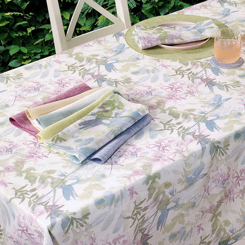 Bodrum Meadow linen print table linens