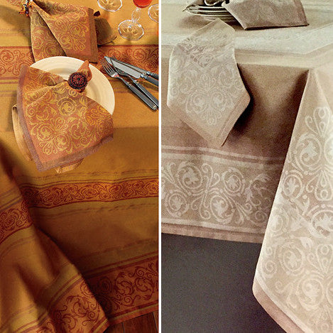 Bodrum Palazzo cotton jacquard table linens