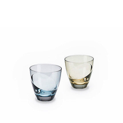 Sugahara Cascade two-tone fused sake glass