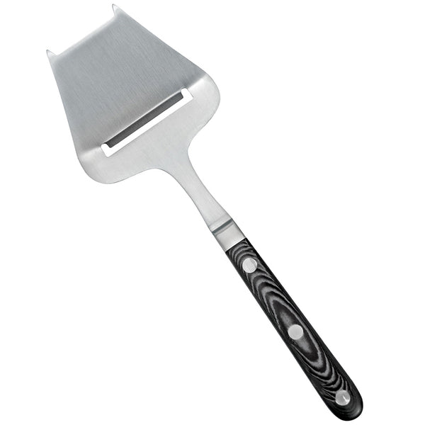 Cheese slicer, stainless steel with black woodgrain resin handle